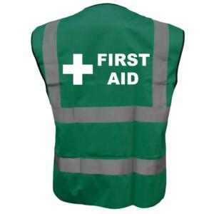 Green Medical Hi Vis Vests