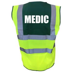 Premium Yellow/Green Medical Hi Vis Vests