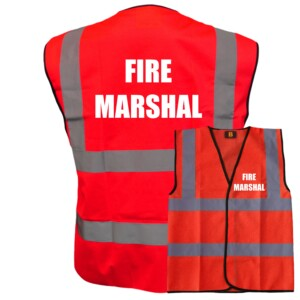 Red Fire Safety Vests