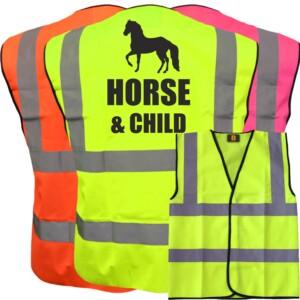 Kid's Horse Riding Hi Vis Vests, 3 Colour Options