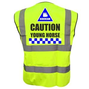 Ridercam Horse Riding Yellow Hi Vis Vests