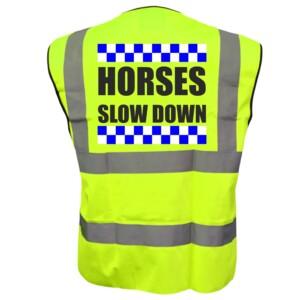 Sillitoe Horse Riding Yellow Hi Vis Vests